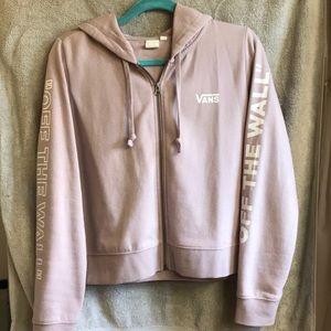 Pink zip Vans hoodie, size medium